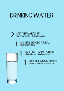 Drinking water is one way to not only lose weight, but to help boost your metabolism. Drink water at the correct time further maximises its effectiveness on your body. To further benefit on the effects of drinking water, here's the best times to drink water: - 2 glasses of water after waking up - 1 glass of water 30mins before a meal - 1 glass of water before taking a bath - 1 glass of water before going to bed