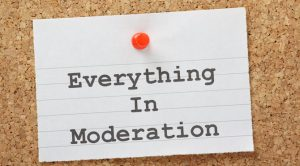 The key to exercise is moderation
