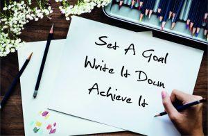 List down your goals