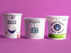 We recommend Greek Yogurt as its protein content is higher.